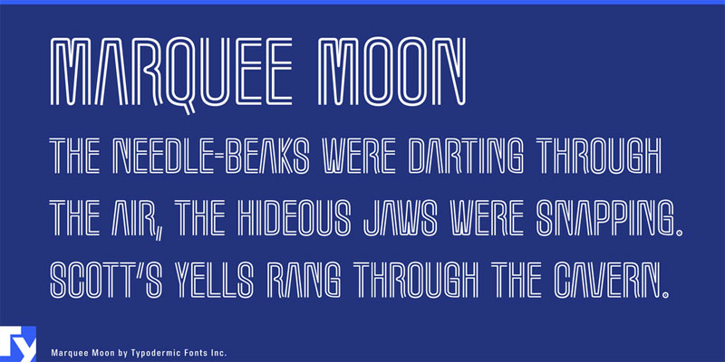 marquee moon neon font