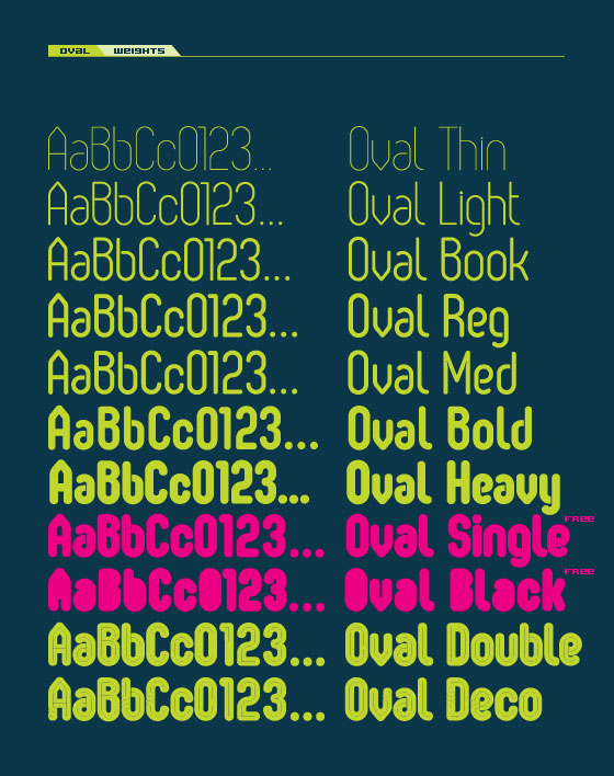 oval neon font