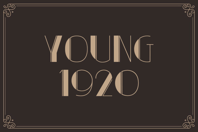 young 1920 font