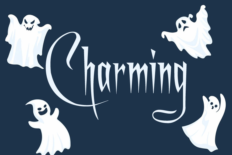 a charming witch font