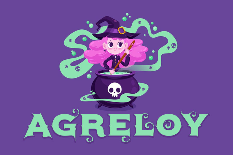 agreloy witch font