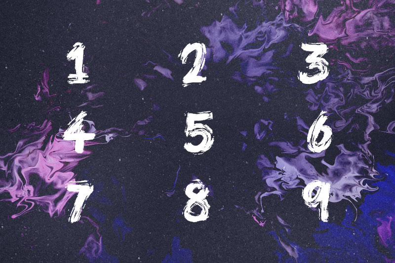 brush pains number font
