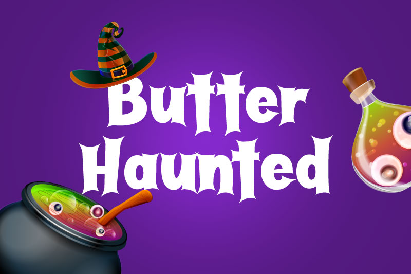 butter haunted witch font