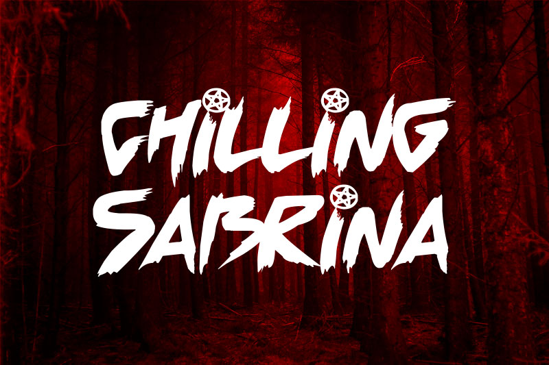 chilling sabrina witch font