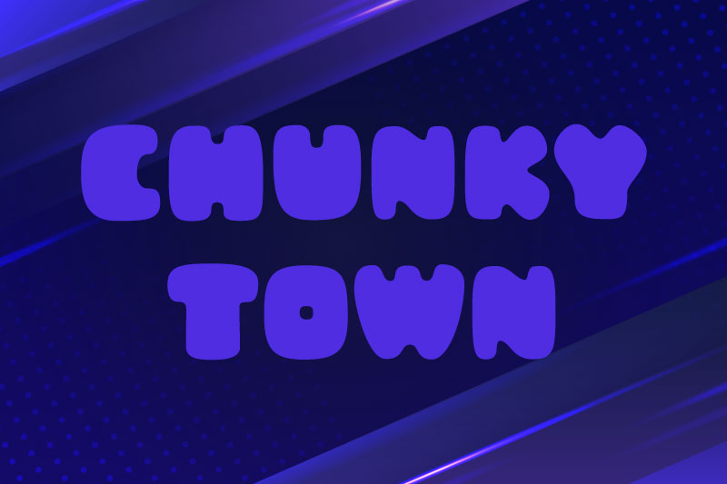 chunky town demo fat font