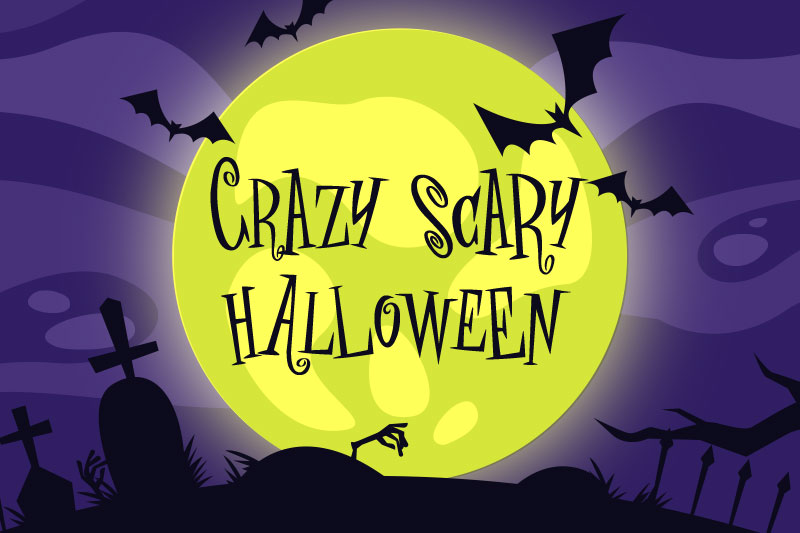 crazy scary halloween witch font
