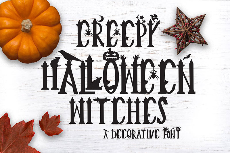 creepy halloween witch font