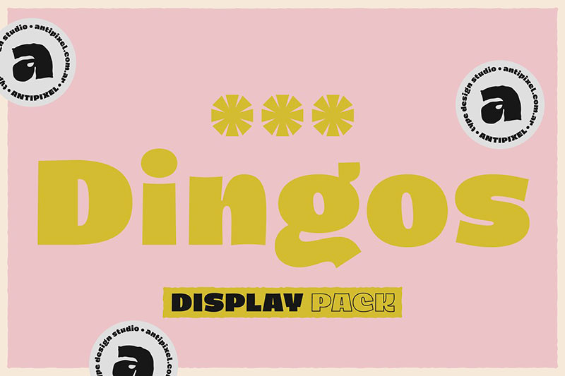 dingos display pack fat font