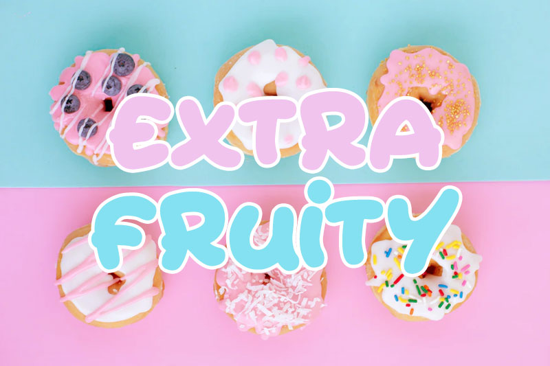 extra fruity fat font