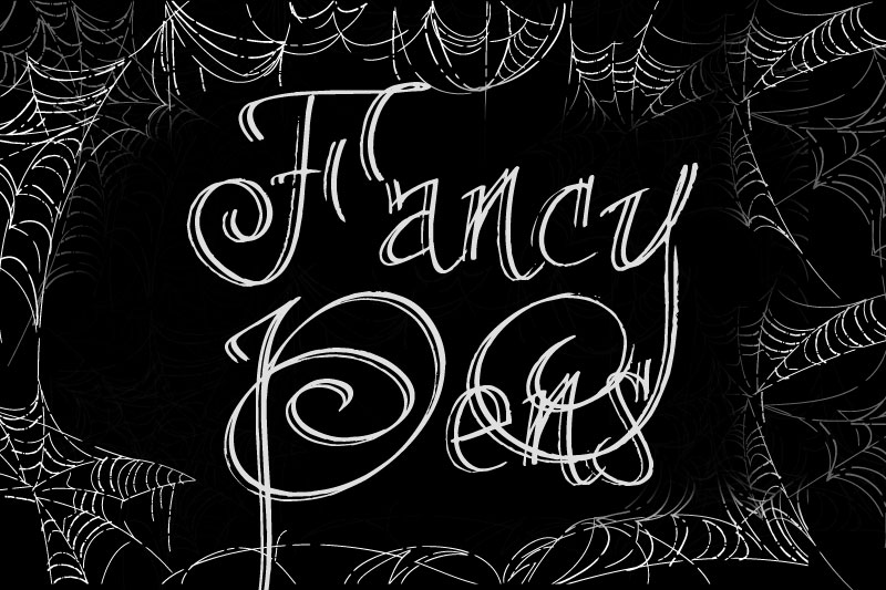fancy pens witch font