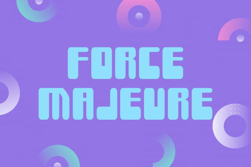 force majeure fat font
