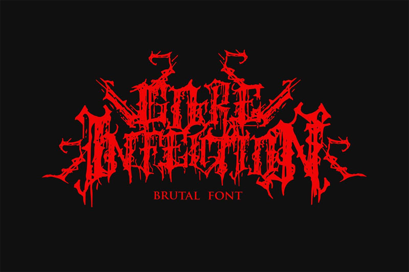 goreinfection metal font