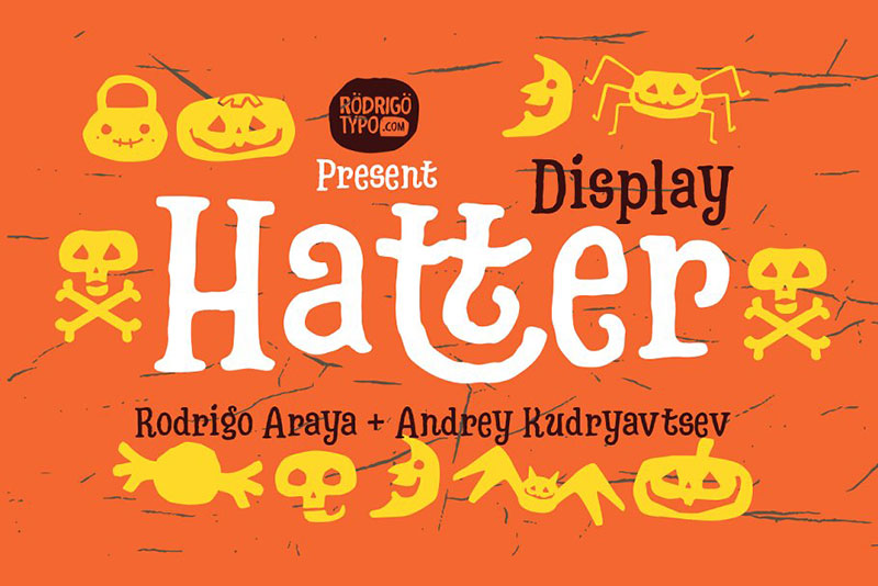 hatter display fontdingbats witch font