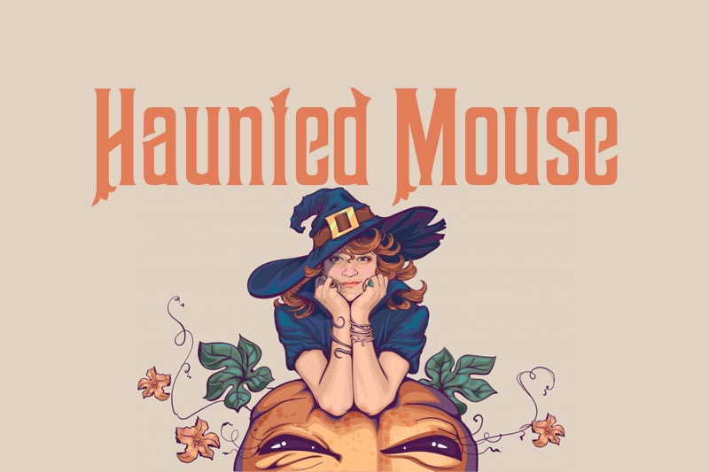 haunted mouse witch font