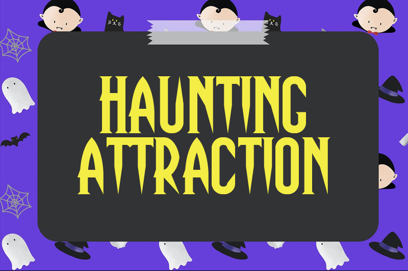 haunting attraction witch font