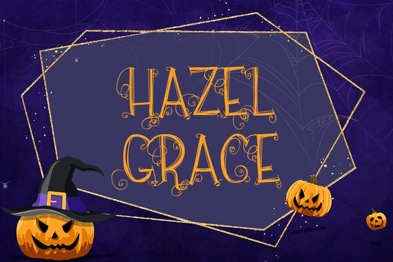 hazel grace witch font