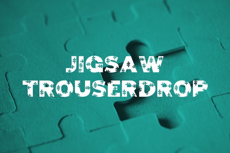 jigsaw trouserdrop puzzle font