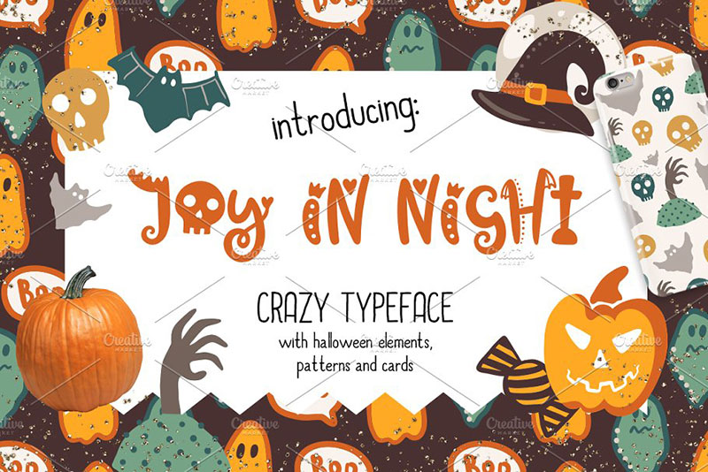 joy in night halloween typeface witch font