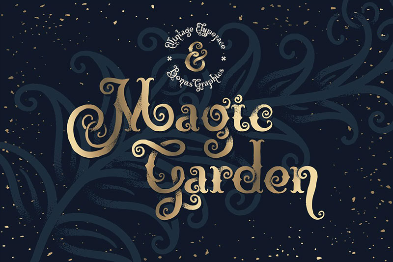 magic garden witch font