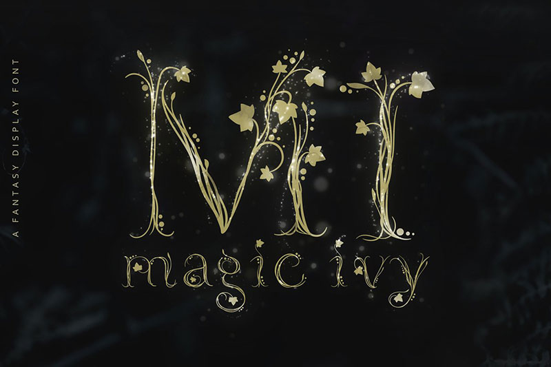 magic ivy botanical witch font