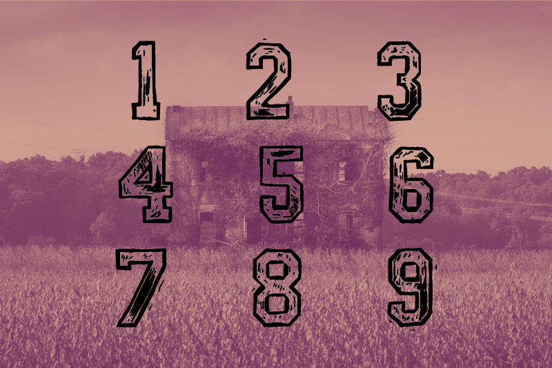 mickey's school number font