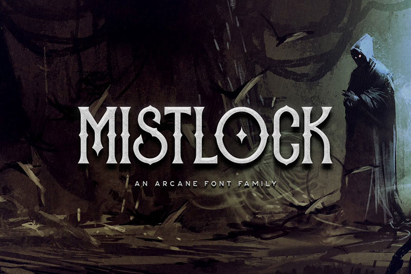 mistlock typeface witch font