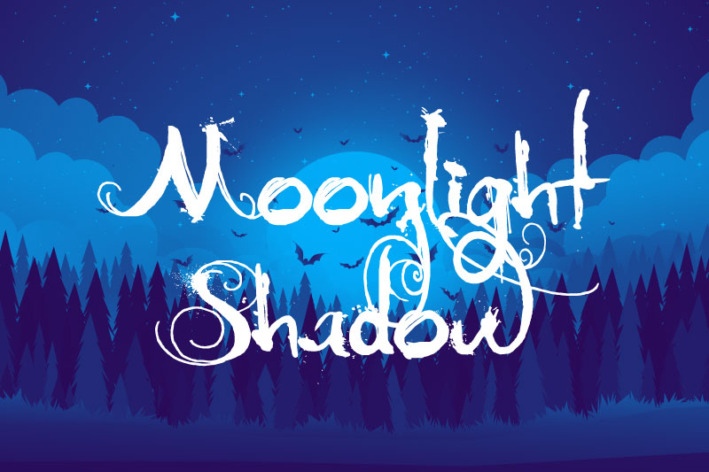 moonlight shadow witch font