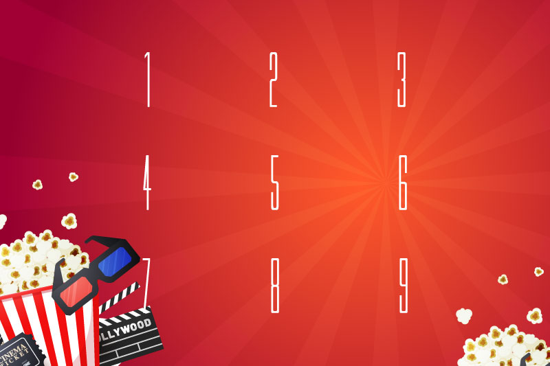 movie letters number font