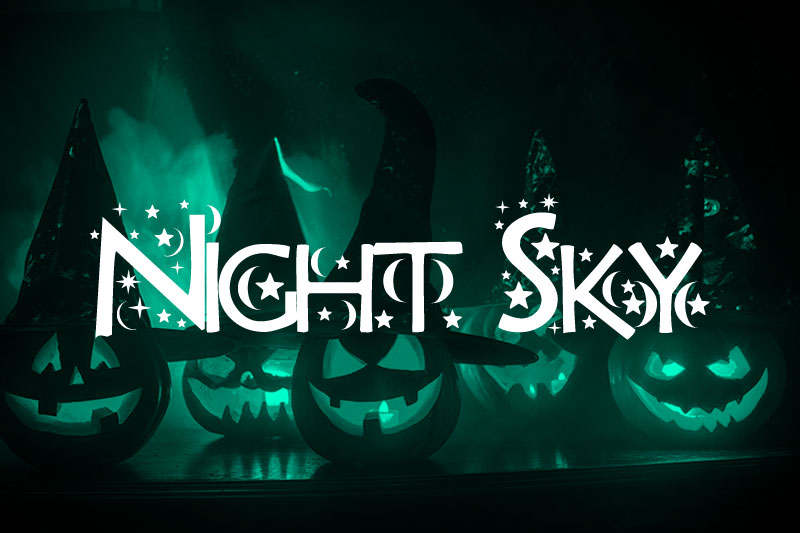 night sky witch font