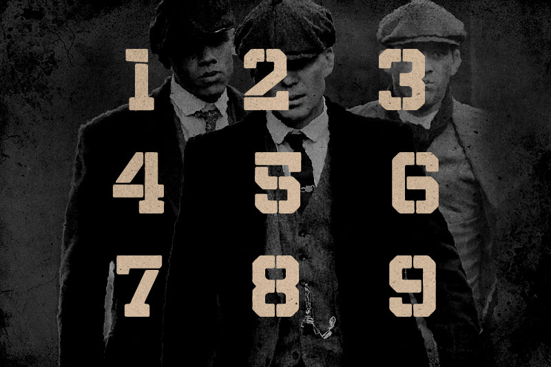 northern army number font