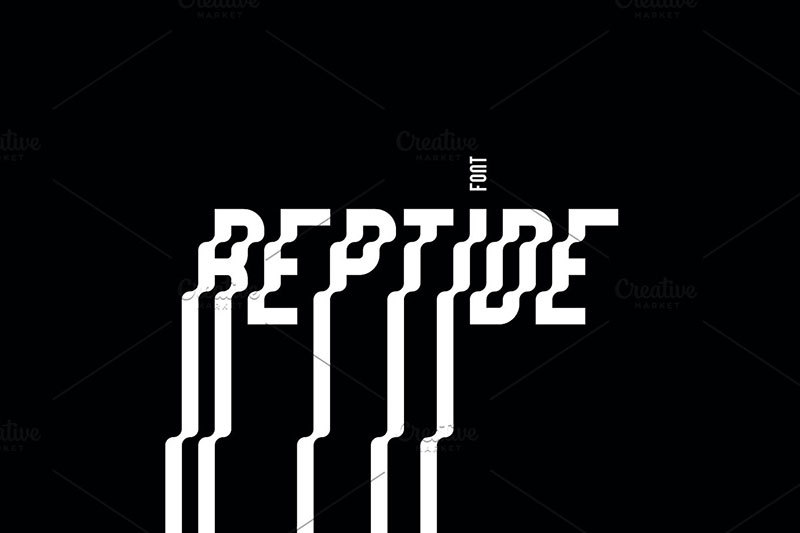 reptide family wave font