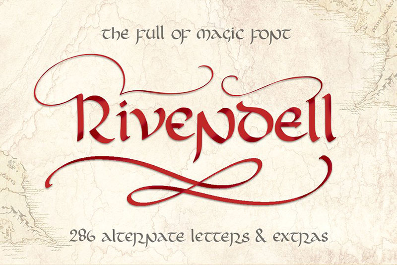 rivendell the full of magic witch font