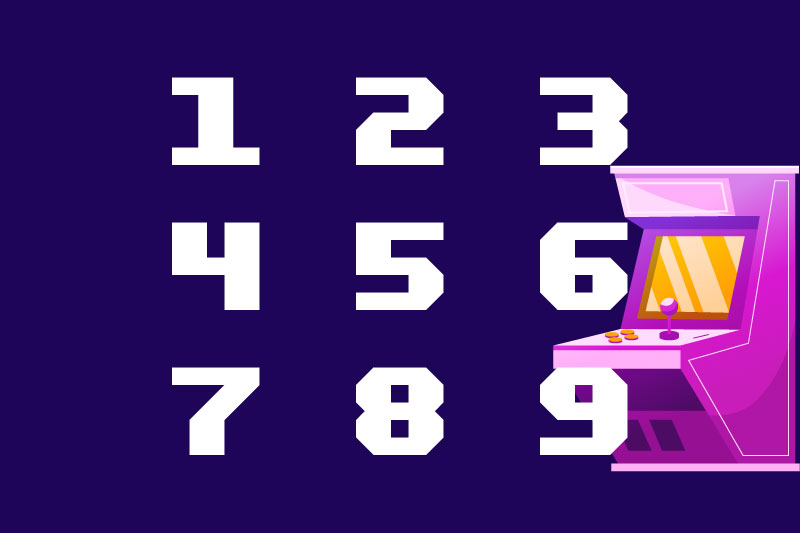 sports ball number font