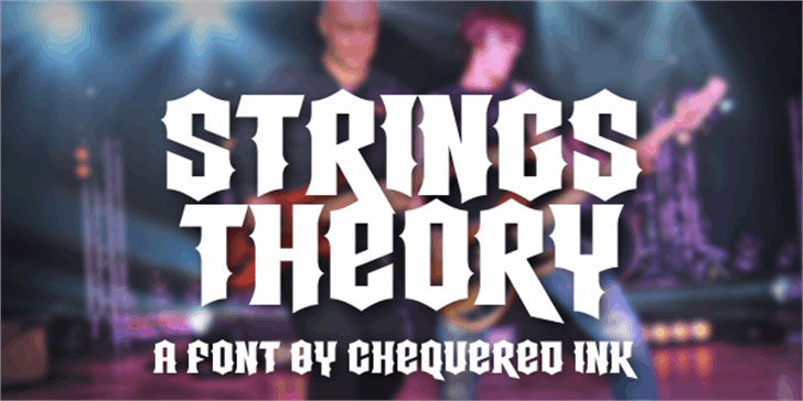 strings theory metal font