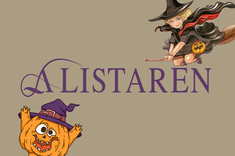 the alistaren witch font