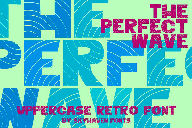 the perfect wave font