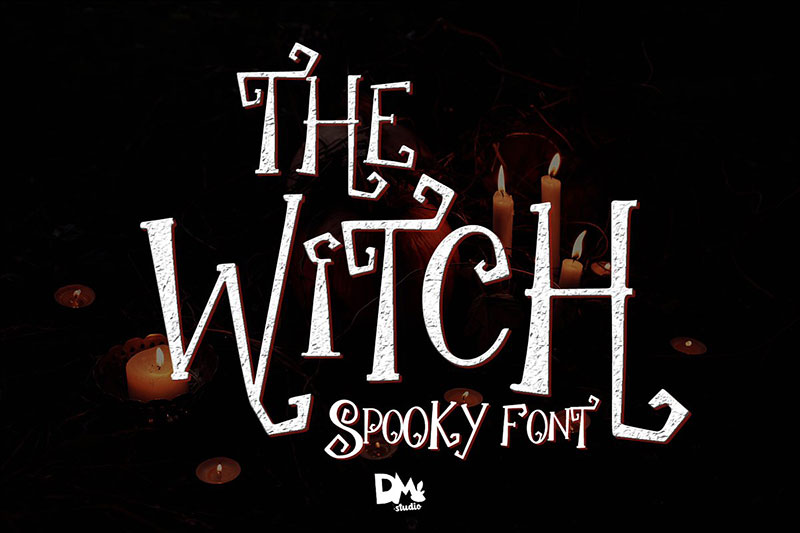 the witch spooky witch font