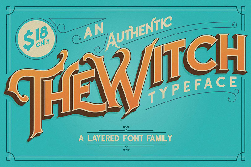 the witch typeface witch font