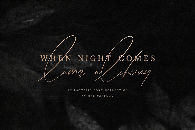 when night comes witch font