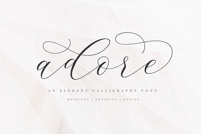 adore calligraphy thank you font