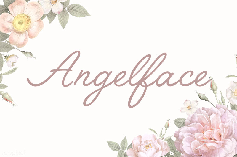 angelface thank you font