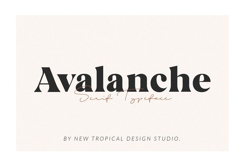 avalanche serif thank you font