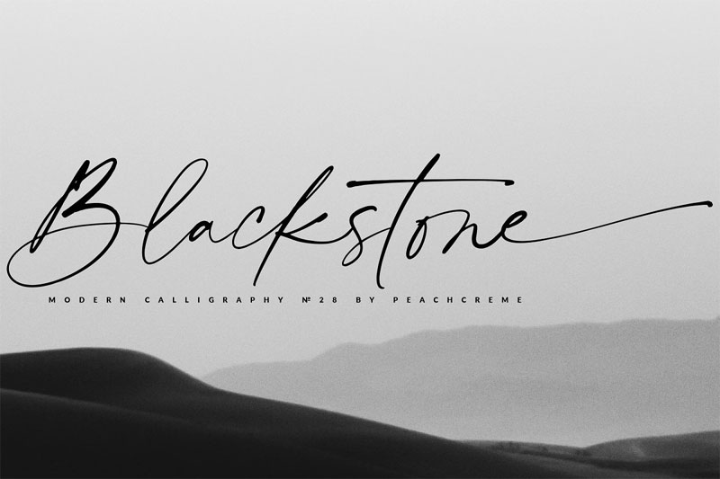 blackstone casual chic thank you font