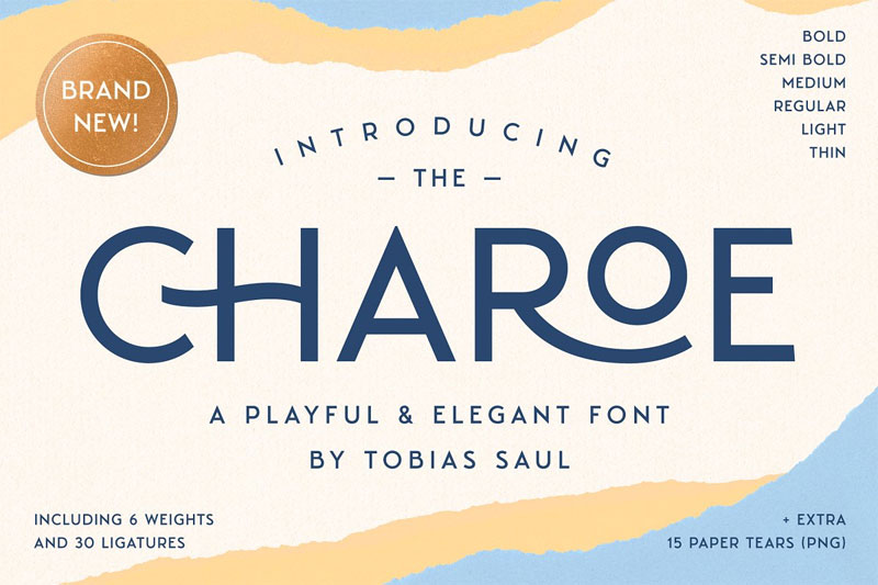 charoe typeface extras thank you font
