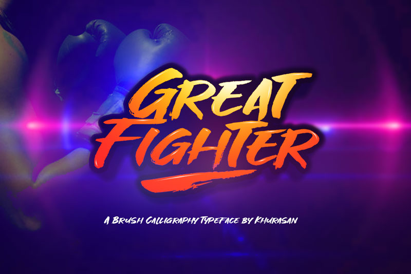 great fighter thank you font