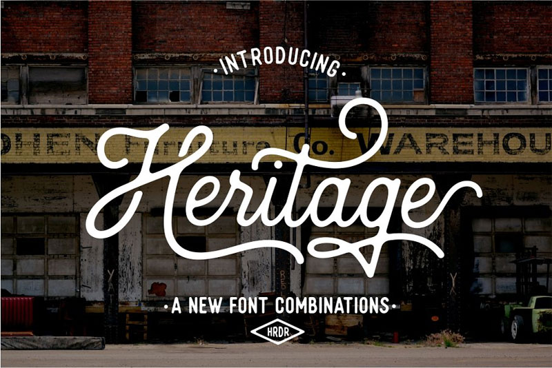 heritage thank you font