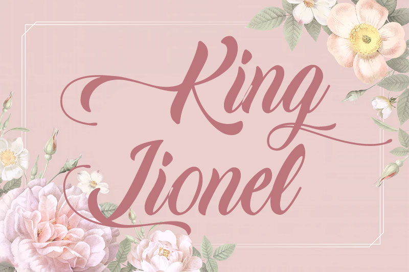 king lionel thank you font
