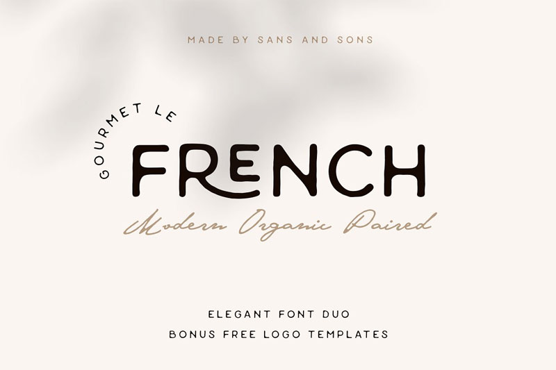 le french thank you font