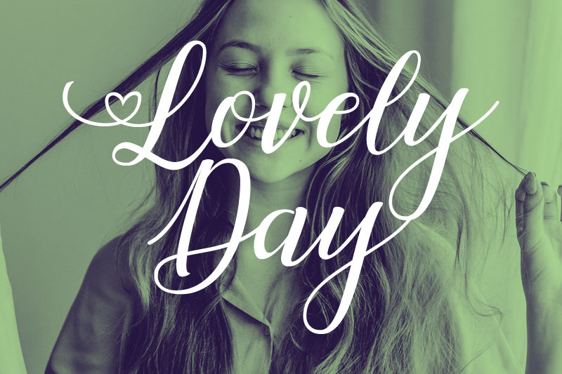 lovely day thank you font