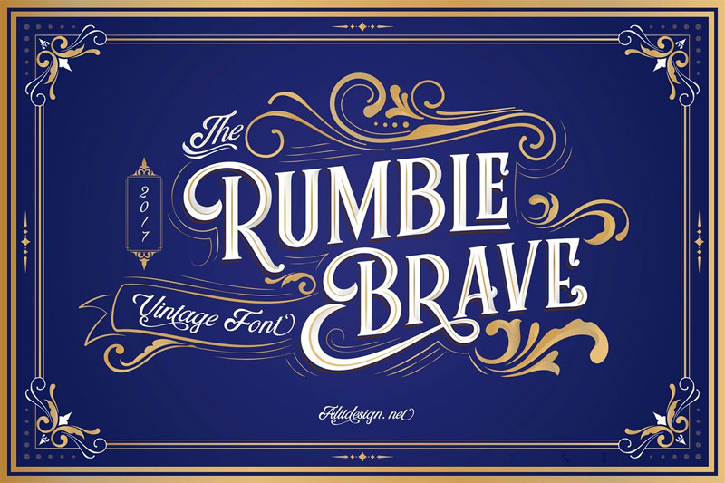 rumble brave typeface thank you font
